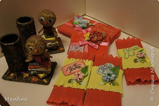 Доброго времени суток! Хочу показать свои осенние поделки! Букетик на первое сентября для учителя моей первоклашки! фото 13
