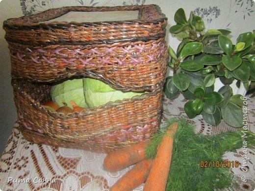 """Привет всем! Выставляю своего пока ещё """"гадкого утёнка"""",но любимую свою коробУшечку.Стоит этот домик на кухне под столом,в уголке , на крыше как всегда любит отдыхать котейка,а внутри отдыхают овощи... фото 3"""