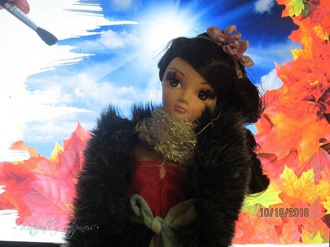 Здравствуйте! Сегодня я представляю вам свою новую работу.  Я выбрала королеву осенней погоды. Всего таких королев погоды 4. Одна из них королева зимы, другая-весны, третья-лета, а четвёртая-осени. Сегодня познакомимся с королевой осенней погоды-Оттой (В нашем мире-Софией).  Отта- Королева осенней погоды. Ей всего 15, но она уже царствует в нашем мире. фото 8