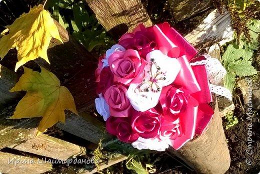 Брошь-букет в моих любимых цветах этой осени) фото 2