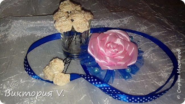 Здравствуйте! Вот такие шпильки-розочки сделала на свадьбу одной знакомой. фото 1