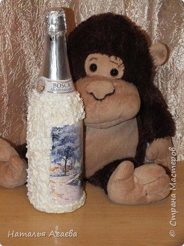 Эти бутылочки задекорированы тканью и салфетками   фото 8