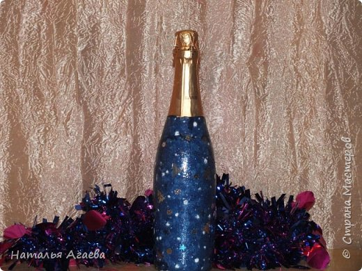 Эти бутылочки задекорированы тканью и салфетками   фото 14