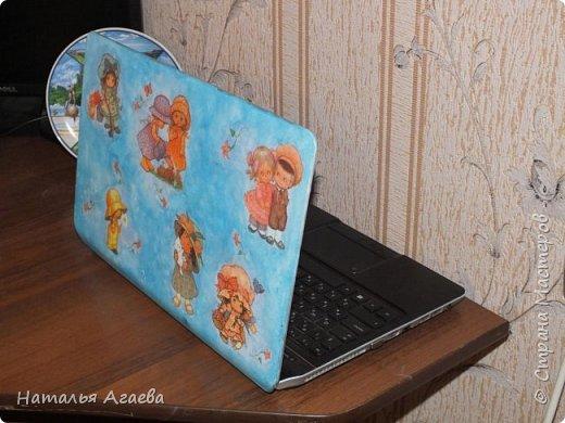 Декупаж на ноутбуке фото 1