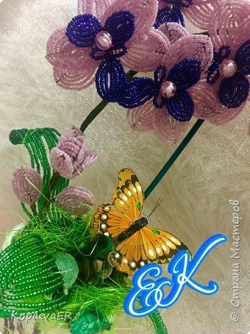 Орхидея из бисера  фото 2