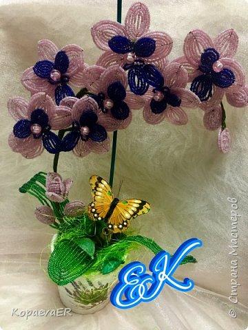 Орхидея из бисера  фото 1