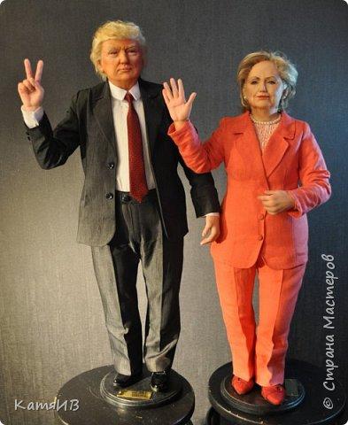 "Куклы ""Дональд Трамп и Хиллари Клинтон"" автор Тимкаева Елена фото 1"