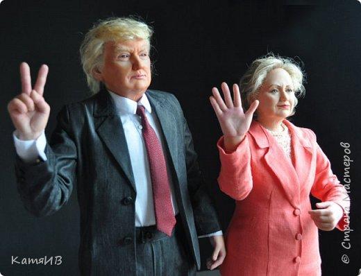"Куклы ""Дональд Трамп и Хиллари Клинтон"" автор Тимкаева Елена фото 4"