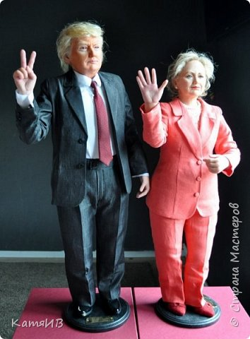 "Куклы ""Дональд Трамп и Хиллари Клинтон"" автор Тимкаева Елена фото 5"