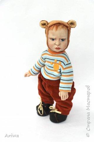 Вот так, постепенно, я  стала делать то, к чему всегда стремилась моя душа). Я постигаю науку создания кукол и тедди игрушек в разных техниках, у разных мастеров. Сегодня я хочу познакомить вас с моими детками. Девочка зайка и мальчик мишутка.  фото 7