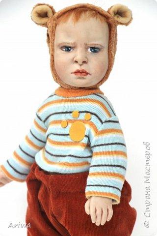 Вот так, постепенно, я  стала делать то, к чему всегда стремилась моя душа). Я постигаю науку создания кукол и тедди игрушек в разных техниках, у разных мастеров. Сегодня я хочу познакомить вас с моими детками. Девочка зайка и мальчик мишутка.  фото 5