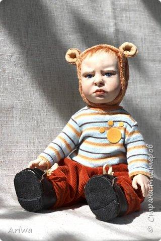 Вот так, постепенно, я  стала делать то, к чему всегда стремилась моя душа). Я постигаю науку создания кукол и тедди игрушек в разных техниках, у разных мастеров. Сегодня я хочу познакомить вас с моими детками. Девочка зайка и мальчик мишутка.  фото 6