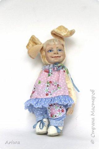Вот так, постепенно, я  стала делать то, к чему всегда стремилась моя душа). Я постигаю науку создания кукол и тедди игрушек в разных техниках, у разных мастеров. Сегодня я хочу познакомить вас с моими детками. Девочка зайка и мальчик мишутка.  фото 4