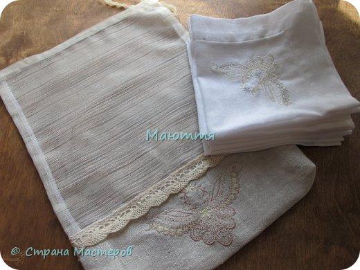 Льняные мешочки для мелочей. С вышивкой. Специально подбирала рисунки, чтоб, вроде, одинаковые, но разные)) фото 9