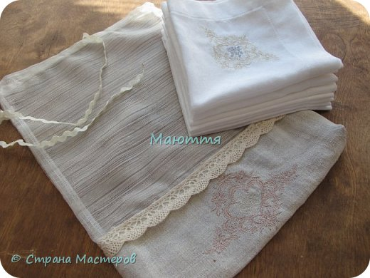 Льняные мешочки для мелочей. С вышивкой. Специально подбирала рисунки, чтоб, вроде, одинаковые, но разные)) фото 10