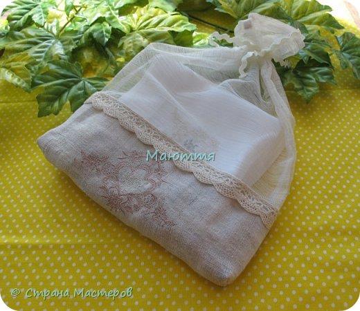Льняные мешочки для мелочей. С вышивкой. Специально подбирала рисунки, чтоб, вроде, одинаковые, но разные)) фото 11