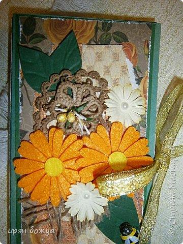 На дворе осень, поэтому шоколадница получилась в таких осенних тонах: темно-зеленый, желтый, оранжевый. Шоколадница сделана в подарок коллеге по работе. фото 5
