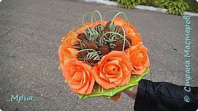 """""""Ореховое настроение"""" -Вот такая осень,орешки с розами и зелёный чай. фото 1"""