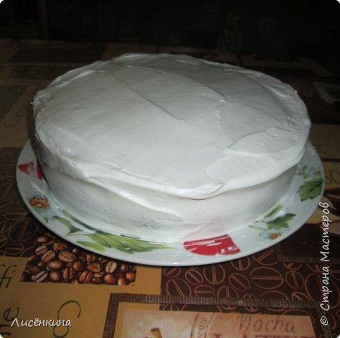 Здравствуйте дорогие мастера и мастерицы. Сегодня нашей дочке 7 месяцев и по этому случаю я испекла тортик. Бисквит шахматный и белковый крем, торт украшен глазурью и свежими ягодами.  фото 7