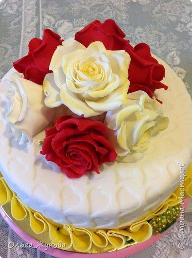 Доброго времени суток всем! Ещё один торт с розами))) фото 2