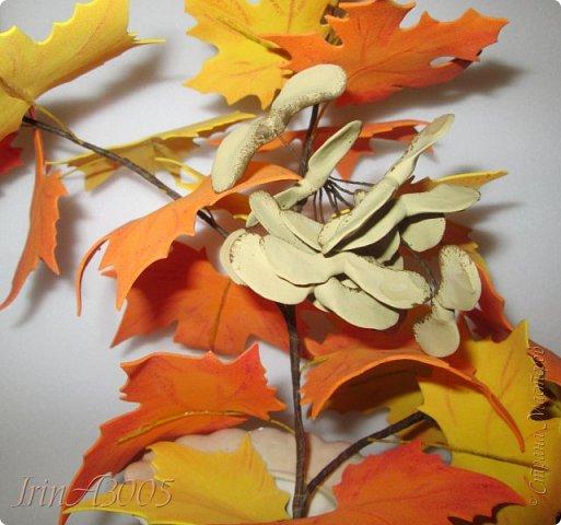 Букет кленовый свеж и так хорош! В нём - музыка, поэзия и счастье. Он с золотой короной очень схож, Сияющей среди тоски ненастья. Кружит, кружит осенний листопад, В букеты листья клёнов собирает.  фото 20