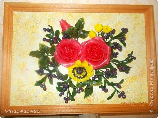Всем добрый день! Слепились у меня вот такие цветочки и ягодки. фото 2