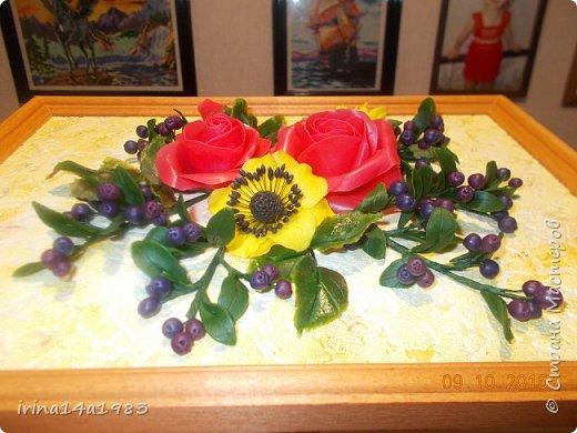 Всем добрый день! Слепились у меня вот такие цветочки и ягодки. фото 4