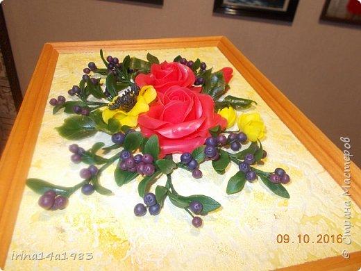 Всем добрый день! Слепились у меня вот такие цветочки и ягодки. фото 5
