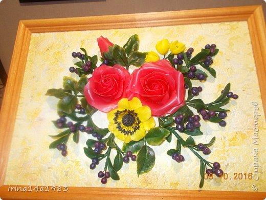 Всем добрый день! Слепились у меня вот такие цветочки и ягодки. фото 6