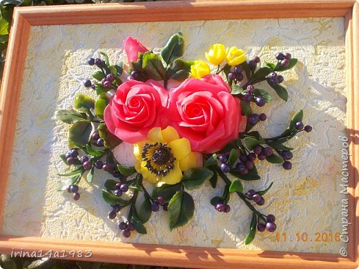 Всем добрый день! Слепились у меня вот такие цветочки и ягодки. фото 8