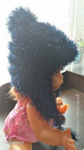 Добрый день! Вот такая шапочка связалась для сыночка из давно одиноко лежавшего мотка пряжи травка. фото 3