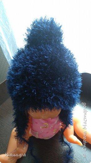 Добрый день! Вот такая шапочка связалась для сыночка из давно одиноко лежавшего мотка пряжи травка. фото 2