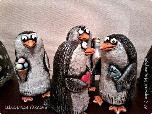 Доброго времени суток,Страна Мастеров!Ну вот наконец покрасила пингвинов.Пингвины уезжают в Красноярск. фото 2