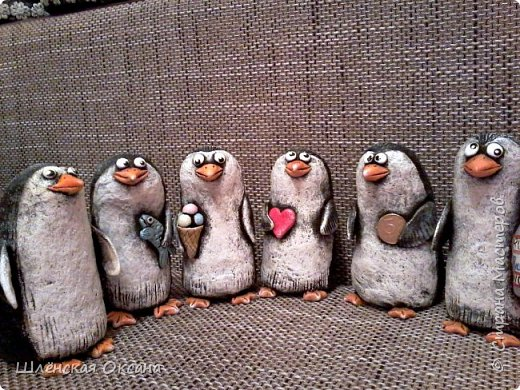 Доброго времени суток,Страна Мастеров!Ну вот наконец покрасила пингвинов.Пингвины уезжают в Красноярск. фото 1