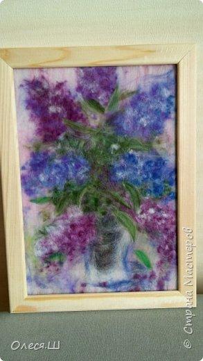 Здравствуйте! Меня буквально заразила и захватила техника живопись шерстью, что я наваяла еще несколько картин. Разделяю их по темам))) Цветы,цветы.... приятного просмотра! Ромашки и гвоздики. Солнечное настроение.... фото 2