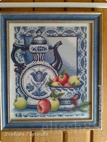 Букет Средиземноморья (Mediterranean Flavors) из набора Dimensions. Вышита на одном дыхании, хотела такой картиной нашу кухоньку украсить. В итоге украшает кухню родственников мужа... фото 3