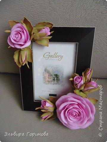 Фоторамка с розами, первая работа фото 1