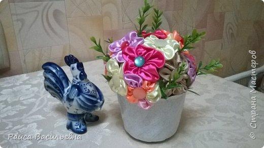 В этом месяце у подружек дни рождения, вот и подготовила два вазона с разными цветами. Этот с розами. фото 3