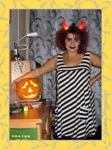 А мне нравится Хэллоуин! Это же такой чудесный повод разнообразить серые будни и устроить детям праздник. Вариация на тему Круэллы де Вил: (на фото  автор) фото 1