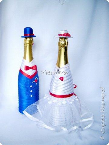 Доброго дня, вечера или ночи! Кратенько покажу мои новые чехольчики на бутылочки для красной свадьбы. Свадьба уже состоялась, желаю молодым счастья и любви!! фото 1
