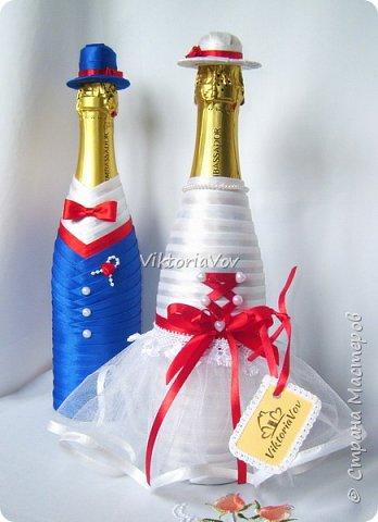 Доброго дня, вечера или ночи! Кратенько покажу мои новые чехольчики на бутылочки для красной свадьбы. Свадьба уже состоялась, желаю молодым счастья и любви!! фото 4