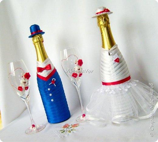 Доброго дня, вечера или ночи! Кратенько покажу мои новые чехольчики на бутылочки для красной свадьбы. Свадьба уже состоялась, желаю молодым счастья и любви!! фото 7