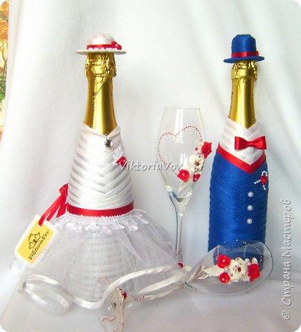 Доброго дня, вечера или ночи! Кратенько покажу мои новые чехольчики на бутылочки для красной свадьбы. Свадьба уже состоялась, желаю молодым счастья и любви!! фото 8