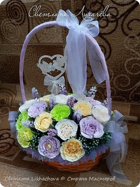 Букеты и корзины из конфет фото 1