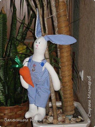 Зайка в национальной одежде,Пошита из флиса. фото 16