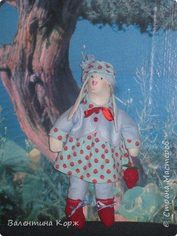 Зайка в национальной одежде,Пошита из флиса. фото 7