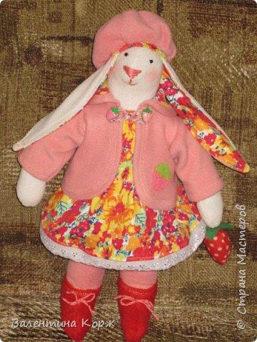 Зайка в национальной одежде,Пошита из флиса. фото 6