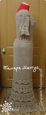 Платье на хозяйке. Подклад цвета темный шоколад фото 4