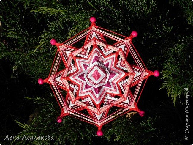 Добрый день или вечер! Сплелось у меня еще три новых мандалы которые украсят мой дом и дома моих друзей на Новый год и Рождество ! Очень захватывает процесс плетения, мандалы все получаются разные, большое пространство для импровизации.  фото 5