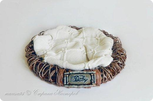 Корзина - гнездо для фото сессии малыша. фото 2